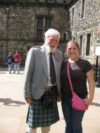 Daughter with Tour Guide at Edinburgh Castle, Scotland