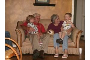 PawPaw & Nancy with great-grandchildren Liam & Presley