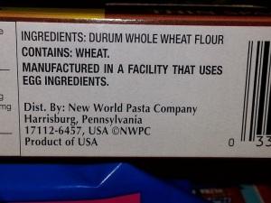 Pasta Label - Photo: livingandlovinglifeafter50