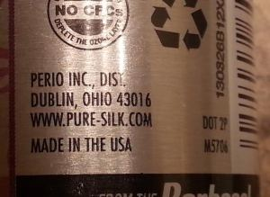 Back of the Pure Silk can