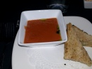 Soup and cheese sandwich