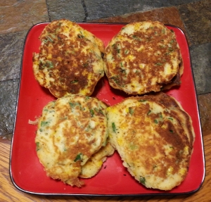 Corn, Kale, and Green Onion Fritters by Angela Johnson