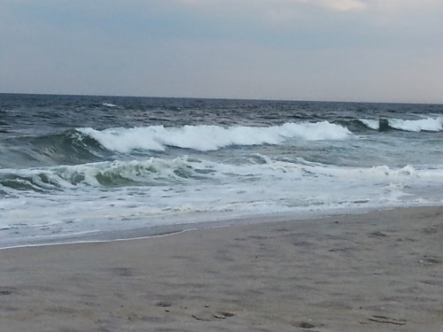 Waves on the Jersey Shore, April 2014