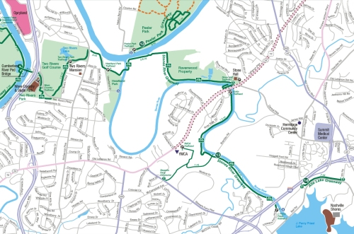 Map of Stones River Greenway Trails Photo Credit