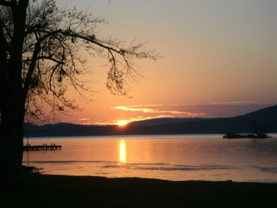 Our view from the site at Lake Guntersville at sunset